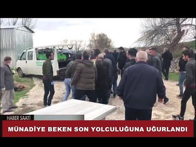Cenazeye Beken'in ailesi ile yakınlarının yanı sıra vatandaşlar katıldı.