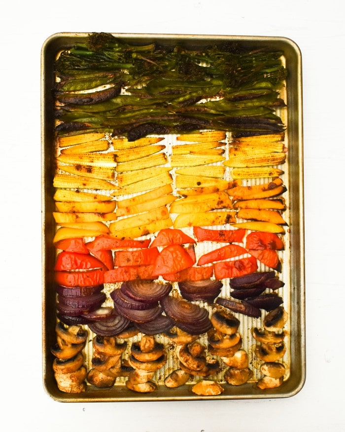 roasted sheet pan vegetables