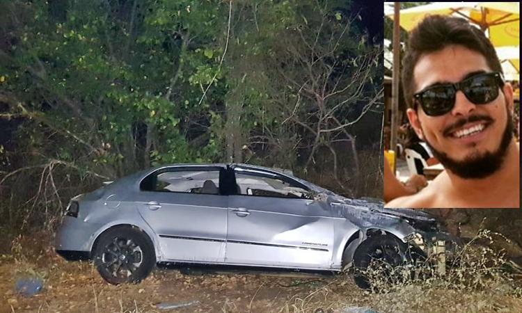 Filho de empresário morre após carro capotar na BR-030 em Palmas de Monte Alto