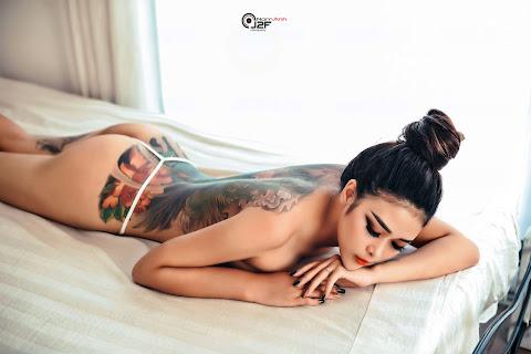 Bộ Ảnh Gái Xinh Xăm Mình Hở Bạo Cực Sexy