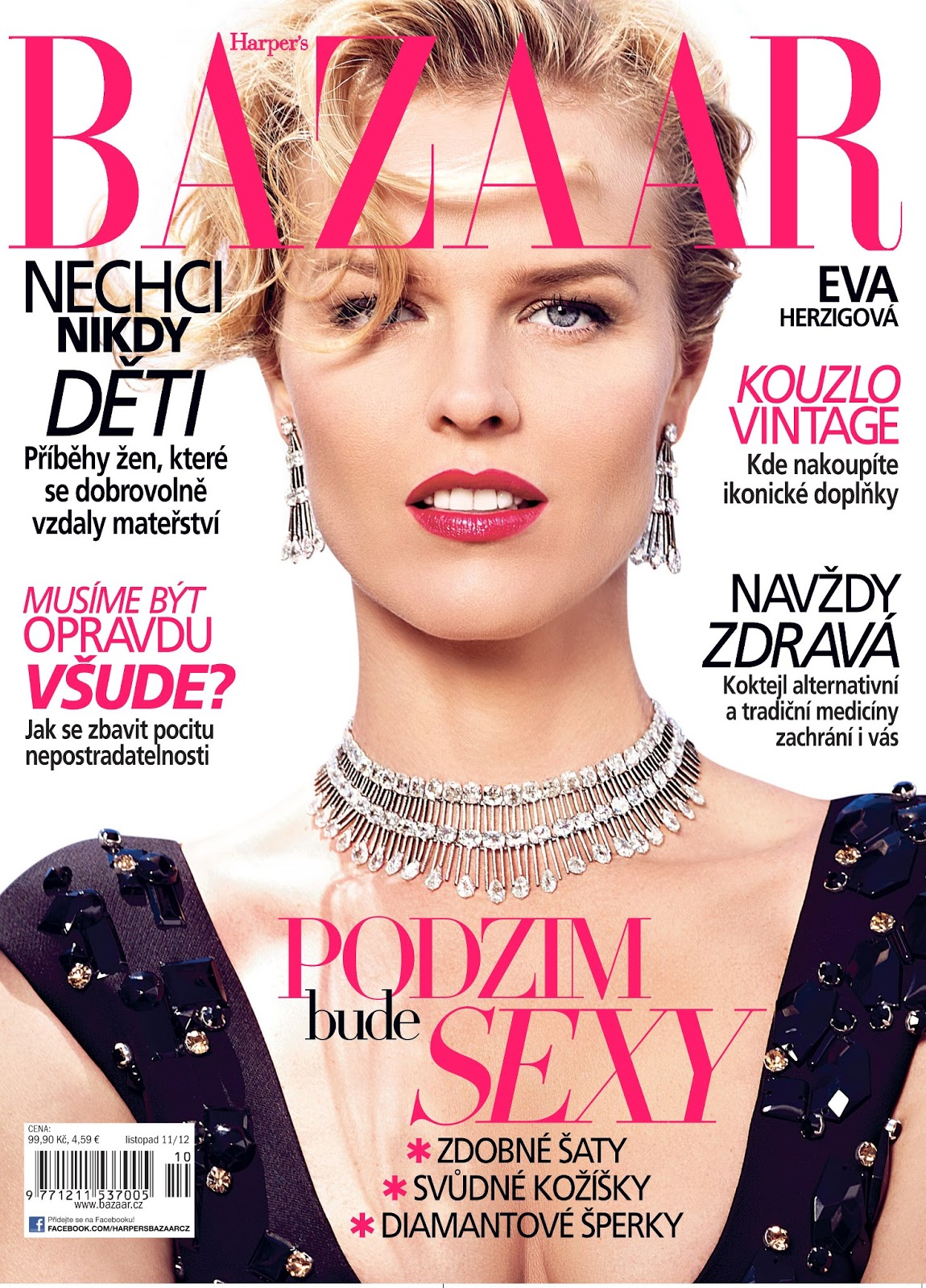 The Beauty of Pregnancy with Eva Herzigova for Harper's Bazaar