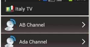 Italy TV Channels Online; è anche un'applicazione che ci permette di vedere tutta la TV italiana in chiaro su dispositivi Android.