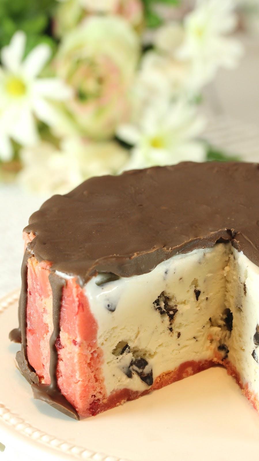 Magic Shell Ice Cream Cake