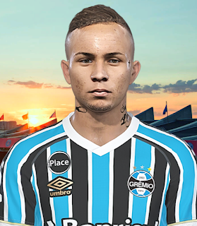 PES 2018 Faces Éverton Soares by Prince Hamiz