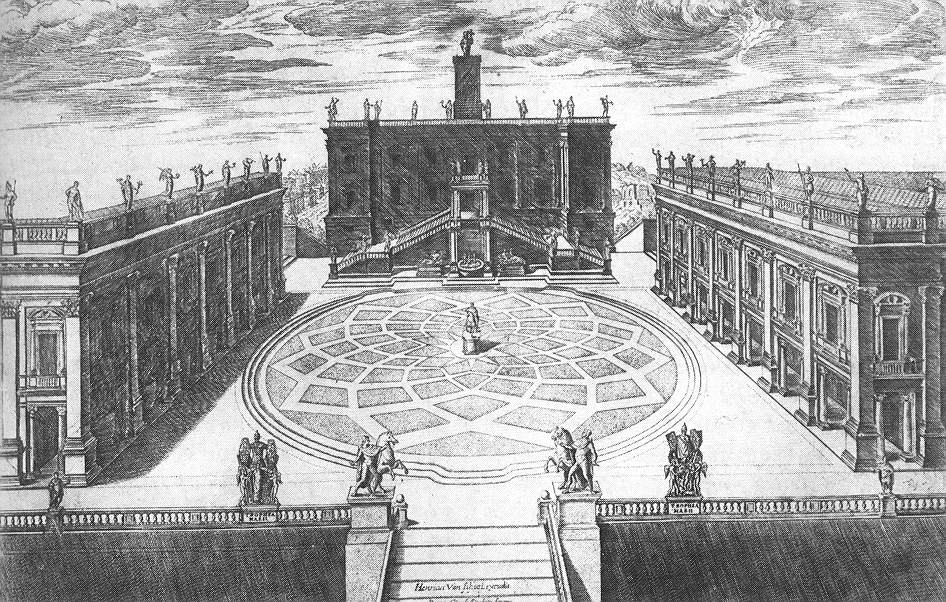 Michelangelo's design for Capitoline Hill. Photo: WikiMedia.org.