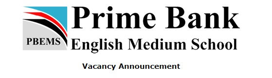 Vacancy Announcement english medium school