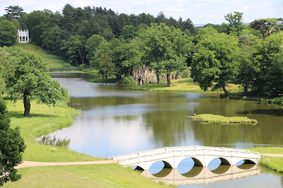Painshill - view of Gothic temple and five-arch bridge © Andrew Knowles