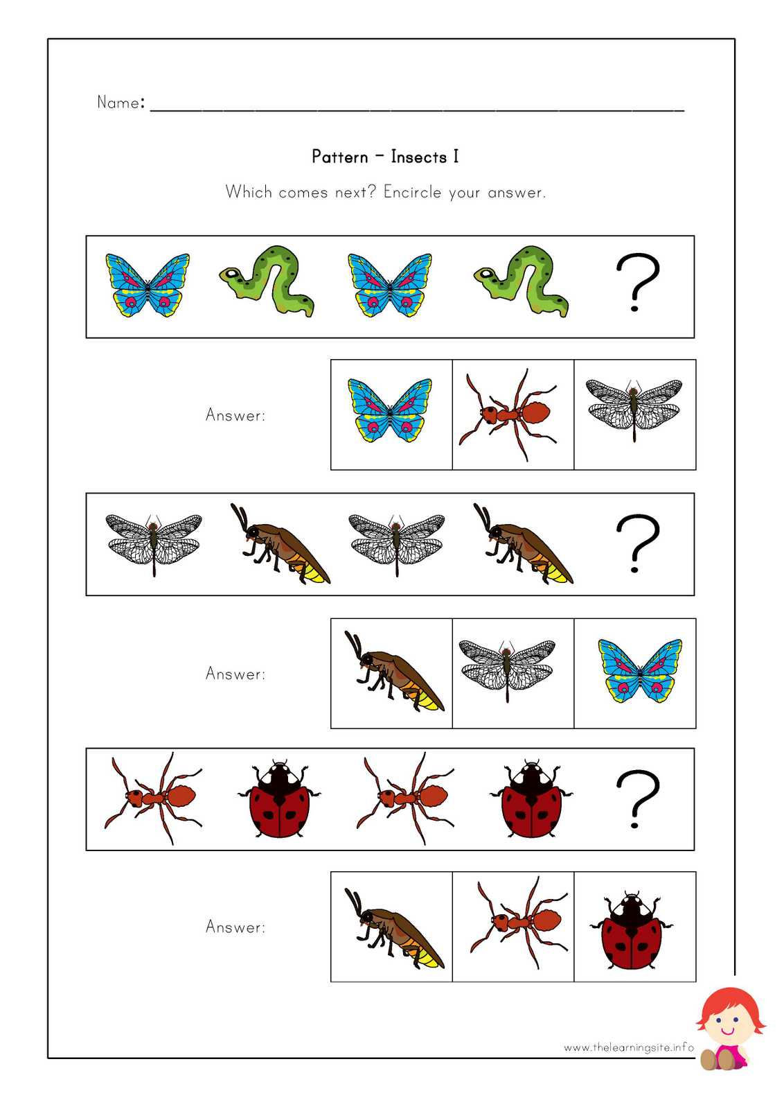 The Learning Site Worksheets