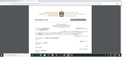 how to check uae labour contract online