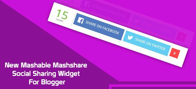 Cara Memasang Sosial Sharing Blog Dengan New Mashable Mashshare