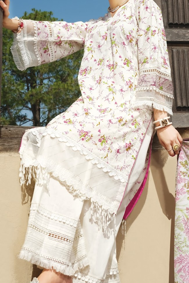 Almirah narural color 3 pc suit Ed-ul-Adha collection