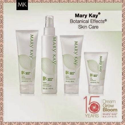 set penjagaan wajah botanical effect Mary kay