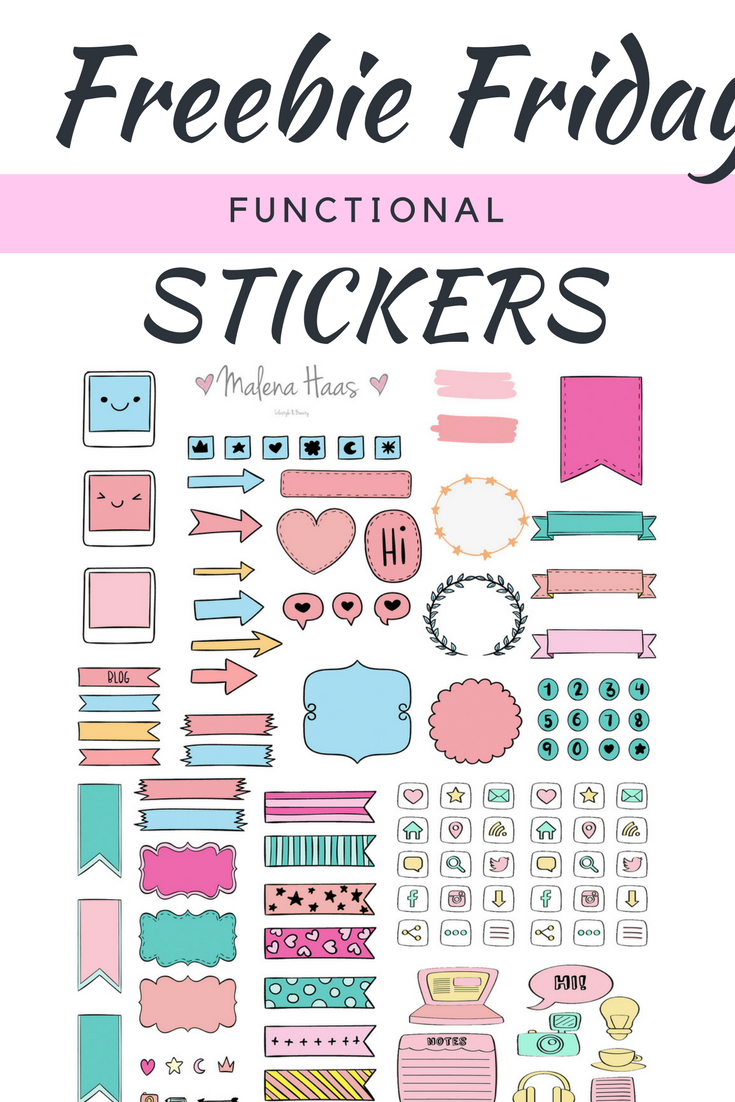 Malena Haas Freebie Friday Functional Planner Stickers