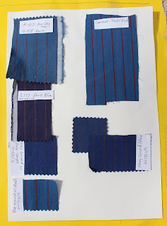 10th Doctor blue suit - Magnoli fabric swatches
