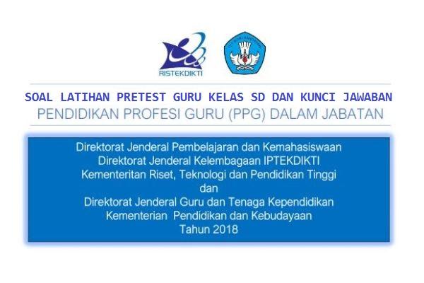 100 Soal Pretest Ppg Guru Sd Dan Kunci Jawabannya Sekolahdasar Net