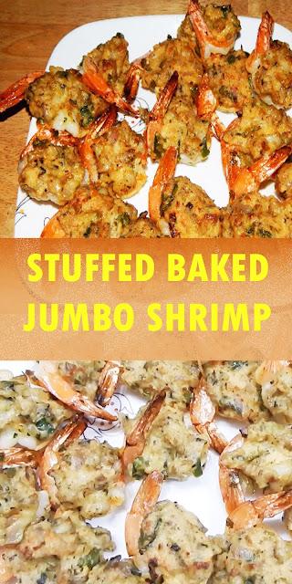 THE BEST STUFFED BAKED JUMBO SHRIMP