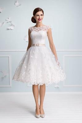 Vestidos de novia sencillos cortos