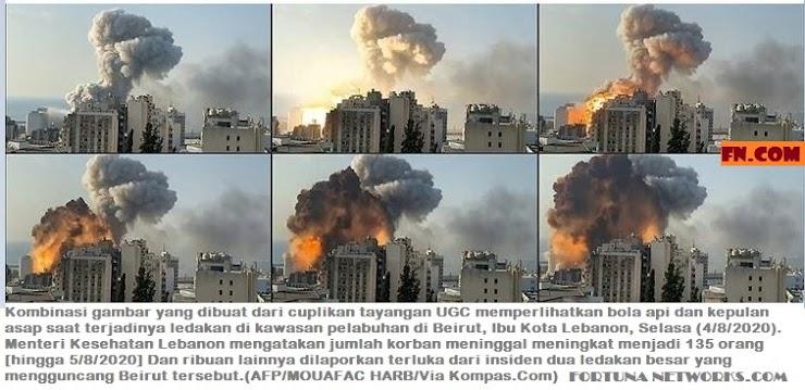 Fakta Led4kan di Beirut, Lebanon, Setara Seperlima Led4kan di Hiroshima