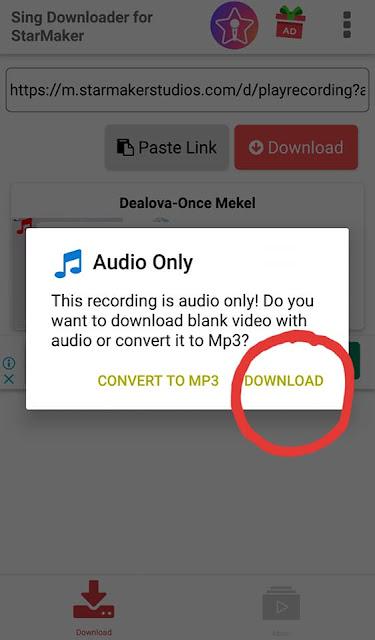 Cara Download Lagu StarMaker ke MP3 atau Video