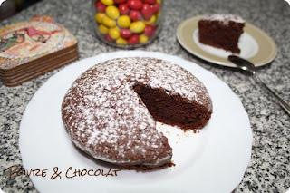 Moelleux au chocolat sans oeuf