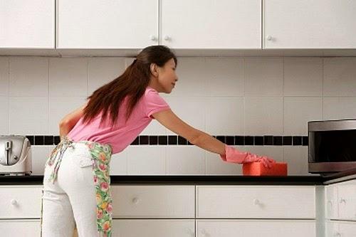 vệ sinh phòng bếp bằng baking soda
