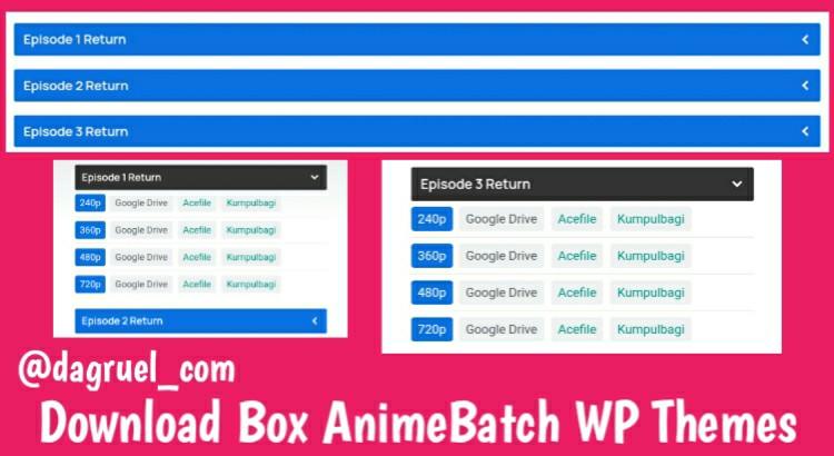 Download Box AnimeBatch WP Theme