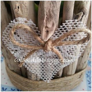 Riciclo creativo Vaso legno mare fai da te riciclo creativo