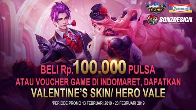 Dapatkan Skin Valentine Mobile Legends Gratis Hanya di Indomaret!