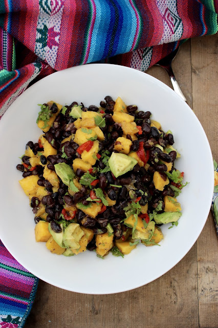 mango avocado and black bean salad
