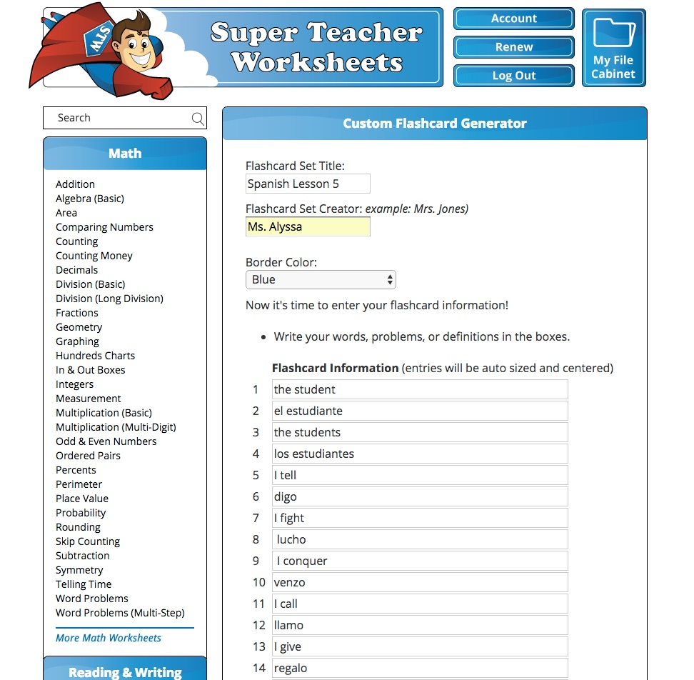 A Learning Journey Homeschool Review Crew Super Teacher Worksheets
