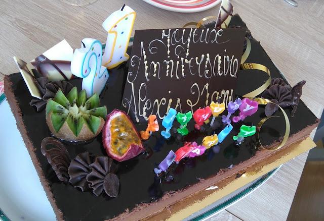 gâteau, chocolat, patisserie, anniversaire, bullelodie