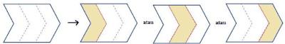 Arsiran Bentuk tanda panah www.simplenews.me