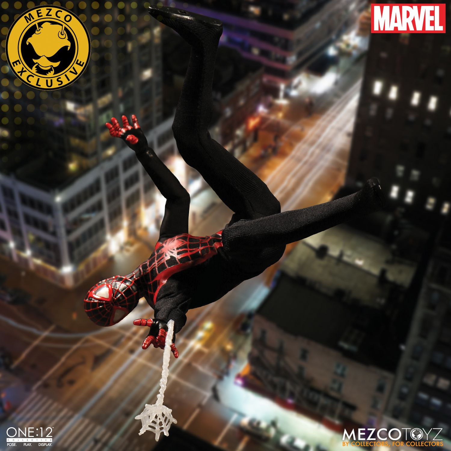 775ded579 SDCC 2017 Exclusive Ultimate Spider-Man Miles Morales One:12 Collective  Marvel Action Figure by Mezco Toyz