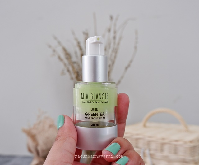 Review Packaging Serum Jerawat Mia Glansie Jeju Greentea Acne Serum