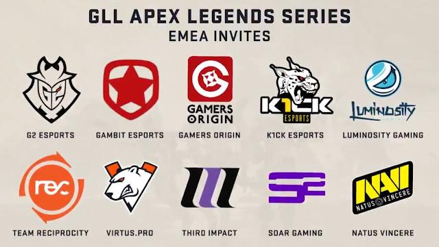 K1ck 6º no torneio Europeu GLL Apex Legends