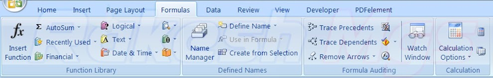 How to Use Formula menu in Ms Excel