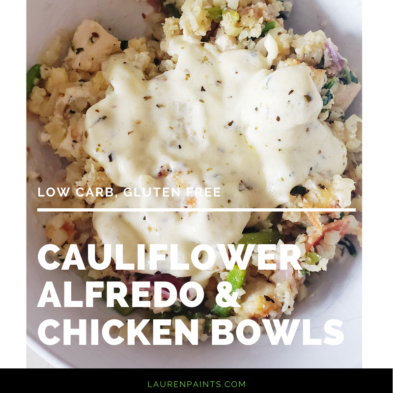 This creamy cauliflower and chicken alfredo bowl is what my healthy lifestyle was longing for. It's just the right amount of creamy cheesy goodness with so much healthiness packed into it.