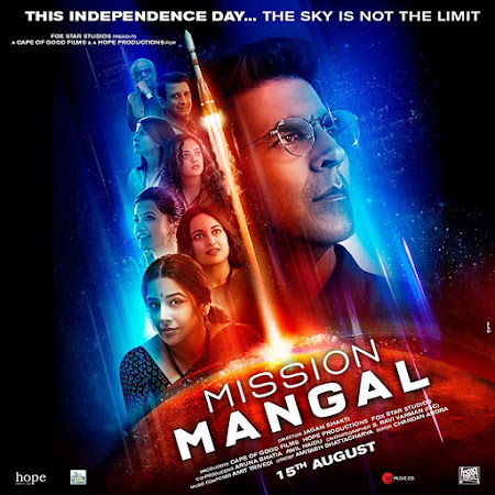 Poster Of Hindi Movie Mission Mangal 2019 Full FHD Movie Free Download 1080P Watch Online