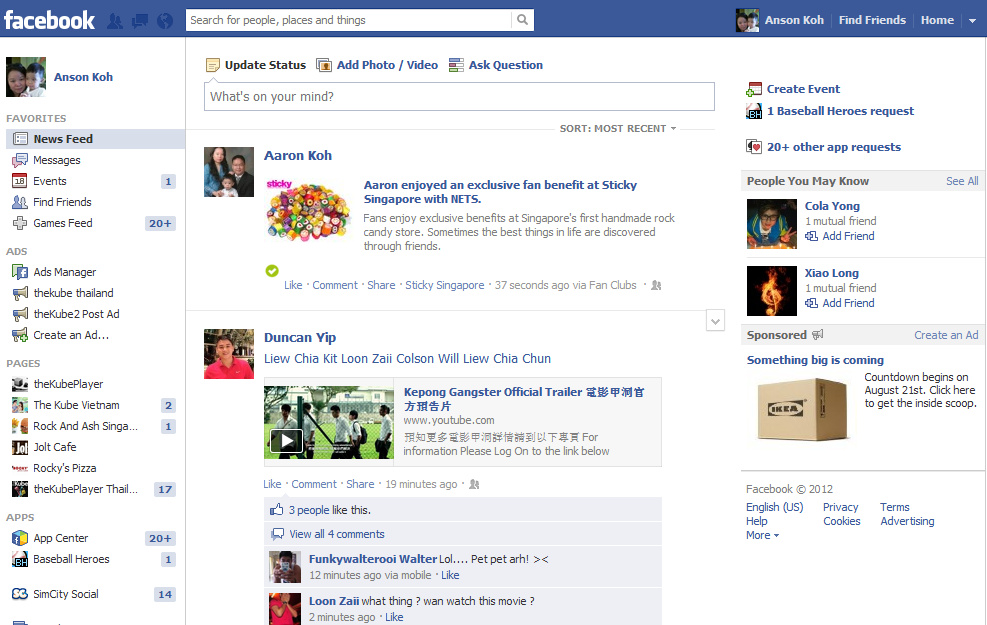 Sticky Singapore Facebook Fan Club is now powered by NETS
