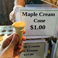 New England Fall Events_The Big E_Avenue of the States_Maple Cream Cone