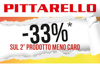 Logo Pittarello : 33% di sconto sul secondo prodotto meno caro!
