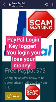 PayPal fake login