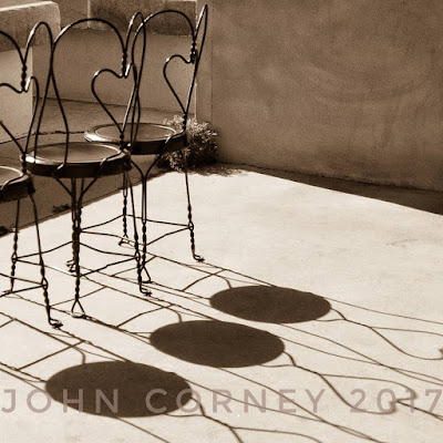 Chairs with heart shadows