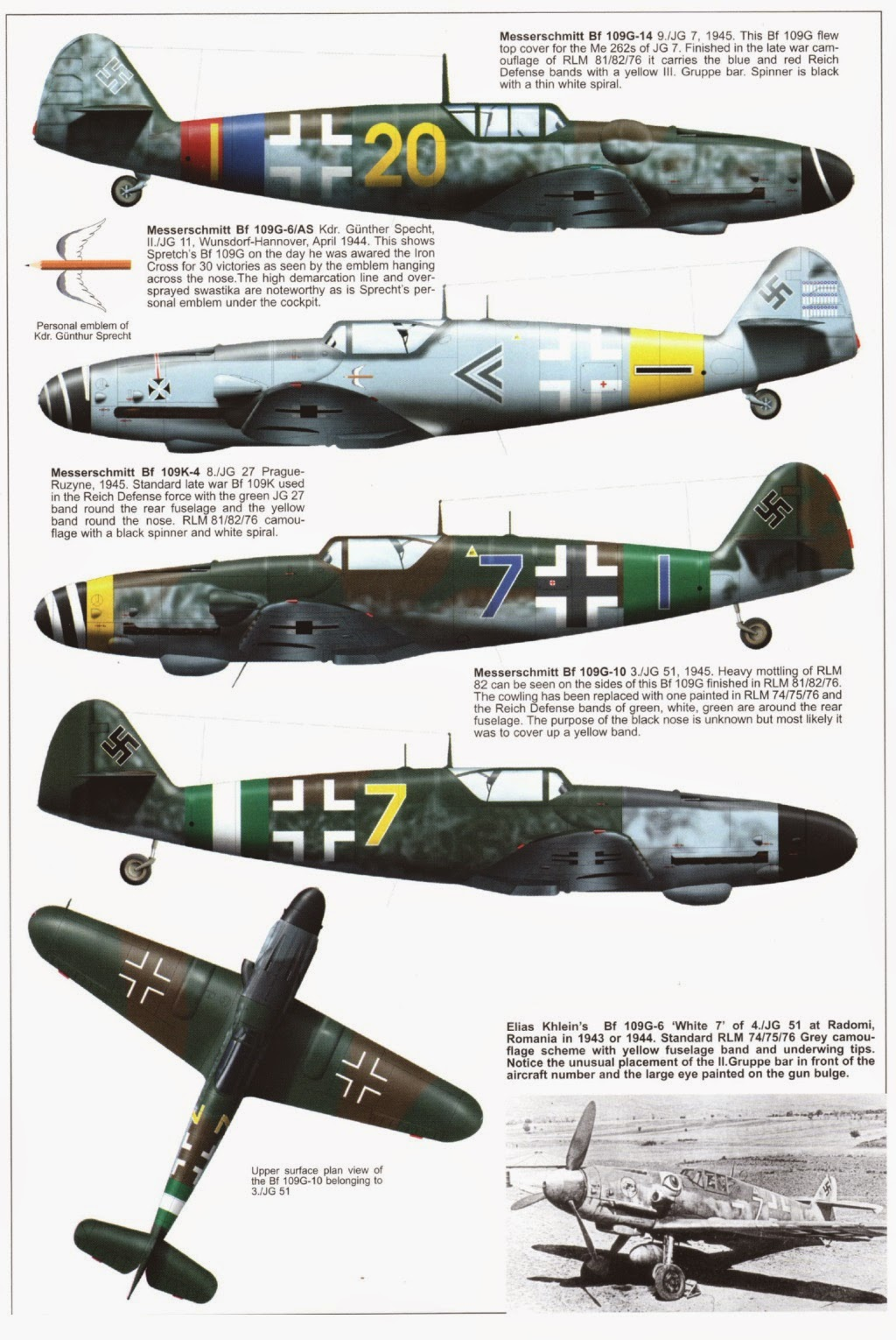 German Aircraft of WWII: Messerschmitt Bf 109 Part III