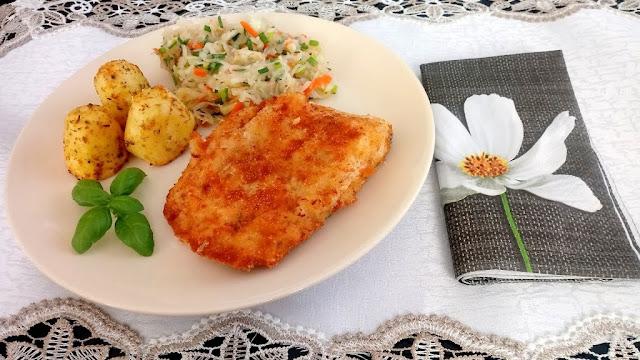Dorsz i pieczone ziemniaki, czyli pomysł na smaczny, prosty obiad.