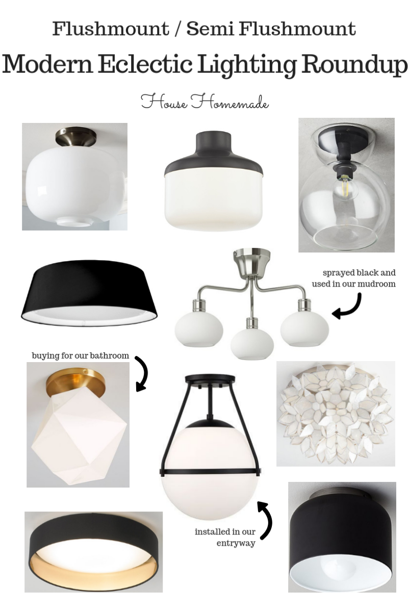 Modern Eclectic Lighting Round Up | House Homemade
