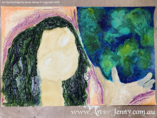 hair texture for mixed media artwork featuring Mother Nature and the Earth by Jenny James