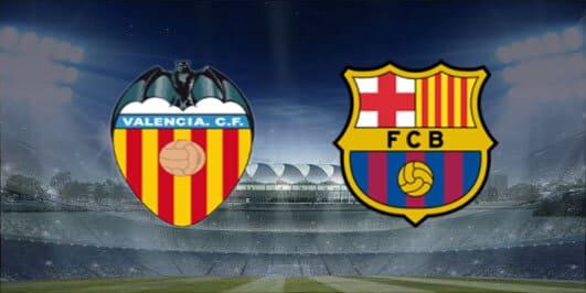 مباراة برشلونة وفالنسيا بتاريخ 25-01-2020 الدوري الاسباني