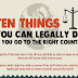 Ten Things You Can Do Legally if You Go to the Right Country #infographic