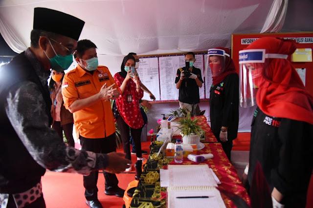 Pantau Musirawas, Herman Deru Ingatkan Protokol Kesehatan